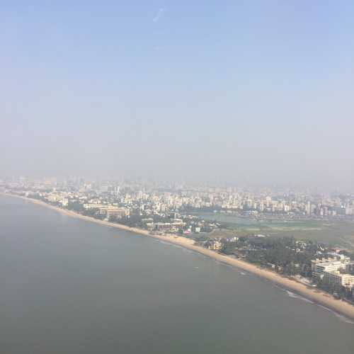 Mumbai from airplane