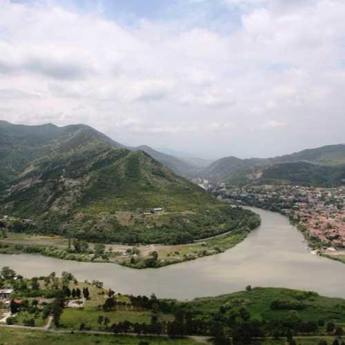 Вид на Мцхету от монастыря Джвари