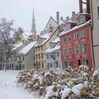 Повезло побывать в Латвии когда ее замело снегом, не каждый год такое бывает =)