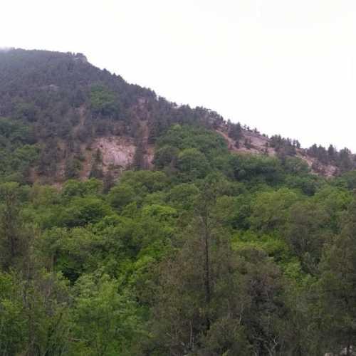 панорама гор над ущельем