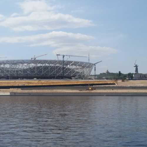 Строящийся стадион «Волгоград Арена»
