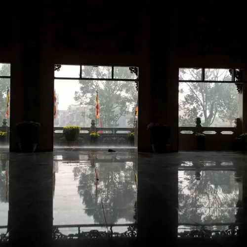 Rain. In the Pagoda