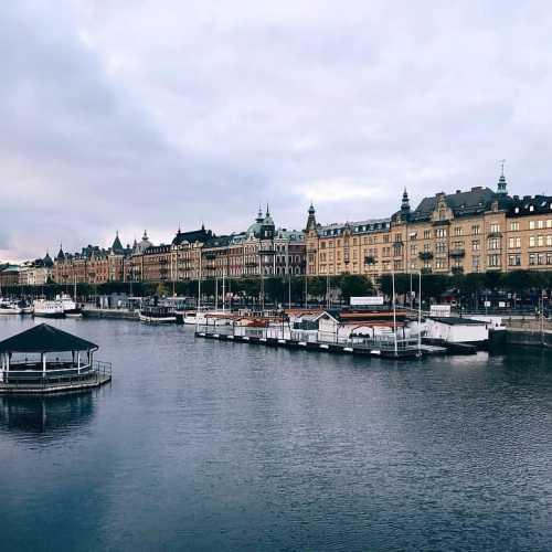 Набережная в центре Стокгольма