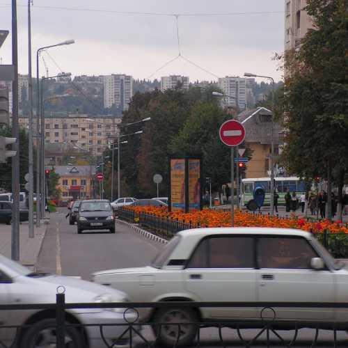 Вид на Харьковскую гору из центра города, 2006 год