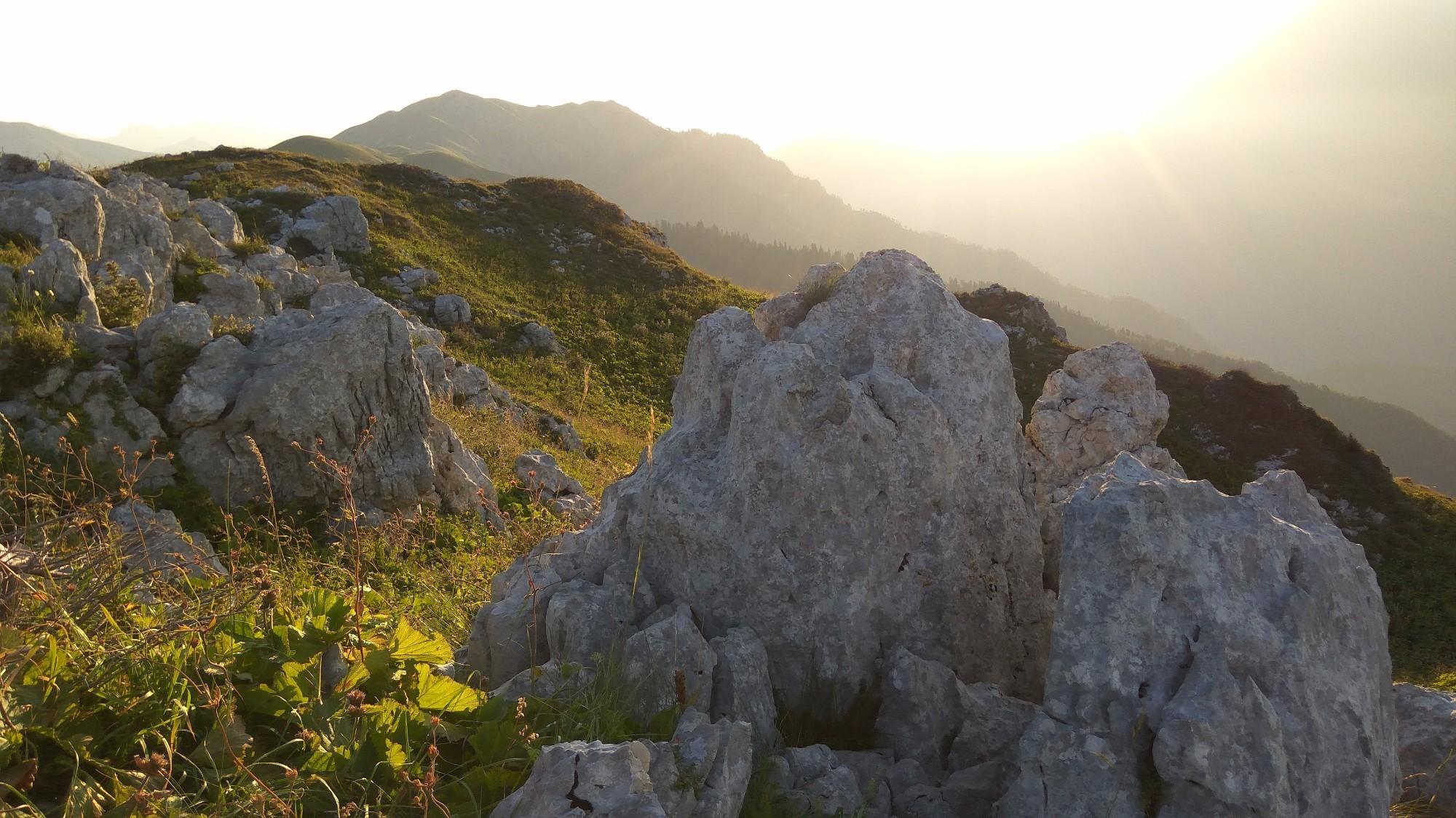 Рассвет на горе Мамдзышха