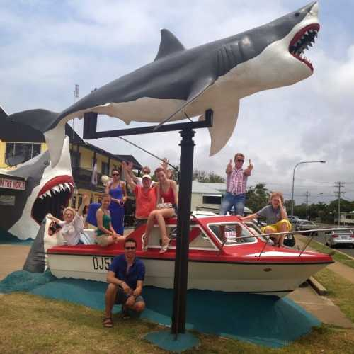 Рядом с музеем, посвящённым нападению акул на людей.