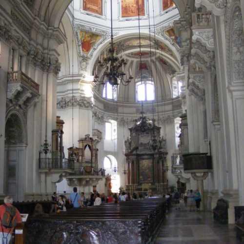 Кафедральный собор Зальцбурга. Тут крестили Моцарта