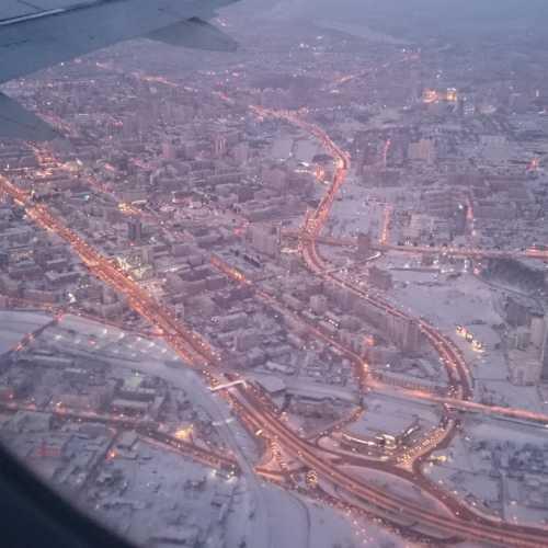 Летим над Новосибирском