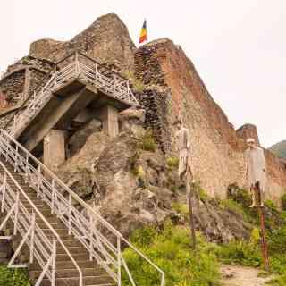 Poenari castle (the real castle of Vlad the Impaler)