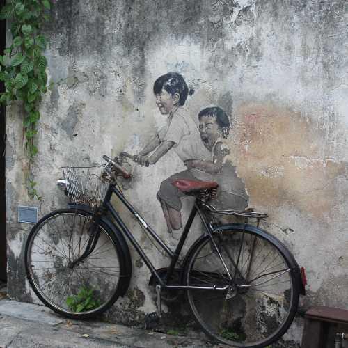 Boy and Girl on Bicycle, Malaysia