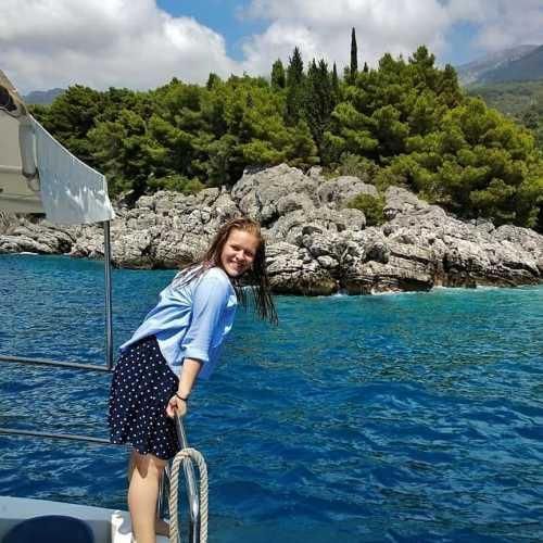 Пржно, Будванская ривьера<br/> На яхте вдоль Ривьеры<br/> (июль 2018)