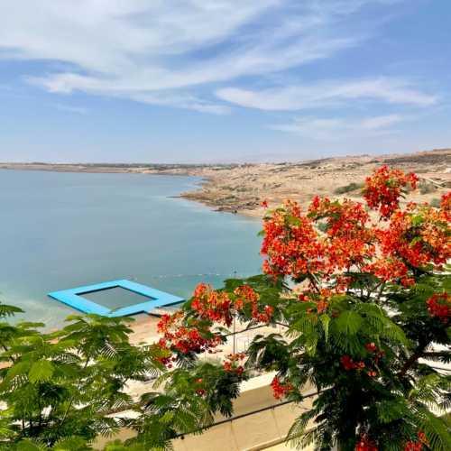 Dead Sea view from Hilton
