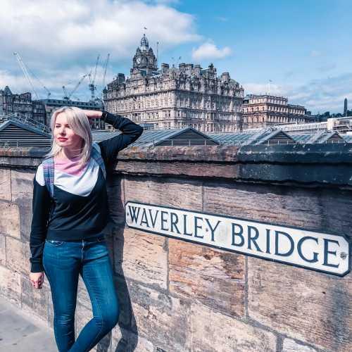 Эдинбург, центр, мост над вокзалом, рядом с Королевской милей и нашем отелем Scotsman