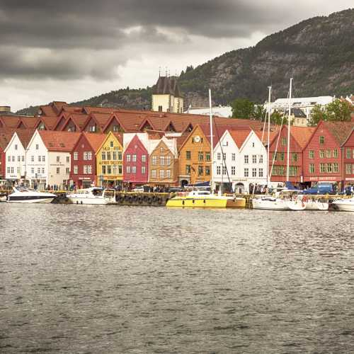 The old warehouses in Bergen
