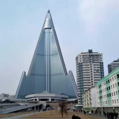 The unfinished 105 storey high Ryugjong Hotel