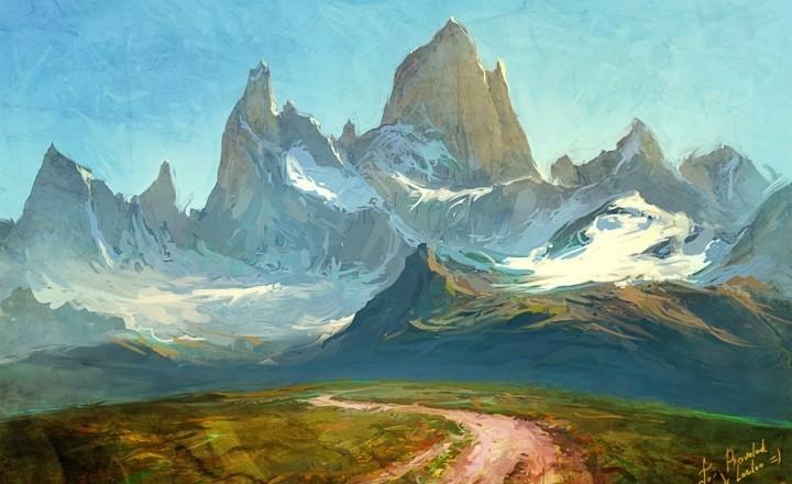 Рисунок горы Fitz Roy