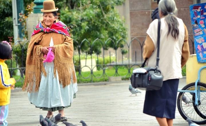 Один день на площади Ла Паса