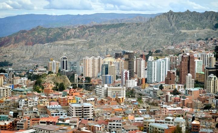 Ла Пас - самая высокогорная столица мира с высоты