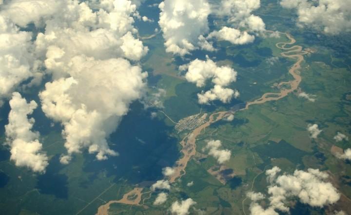 Джунгли Амазонки в облаках