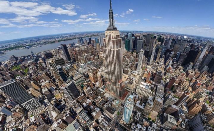 Нью-Йорк сити, вид сверху.