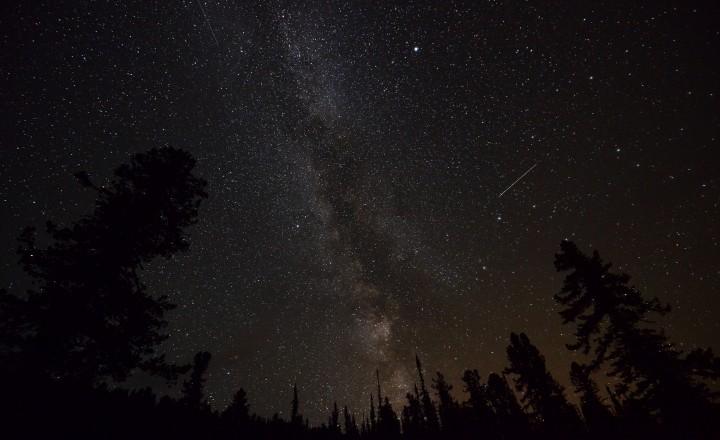Звездное небо в национальном парке Ергаки