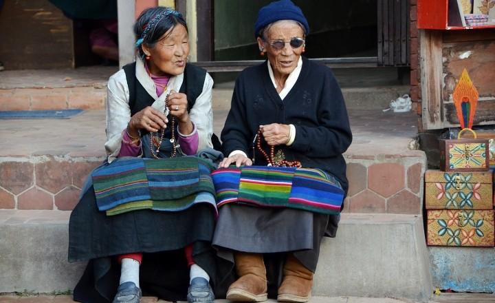 Один день у ступы Боднатх, Непал